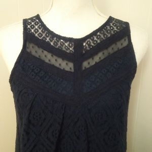 Blue lace summer dress M sleeveless